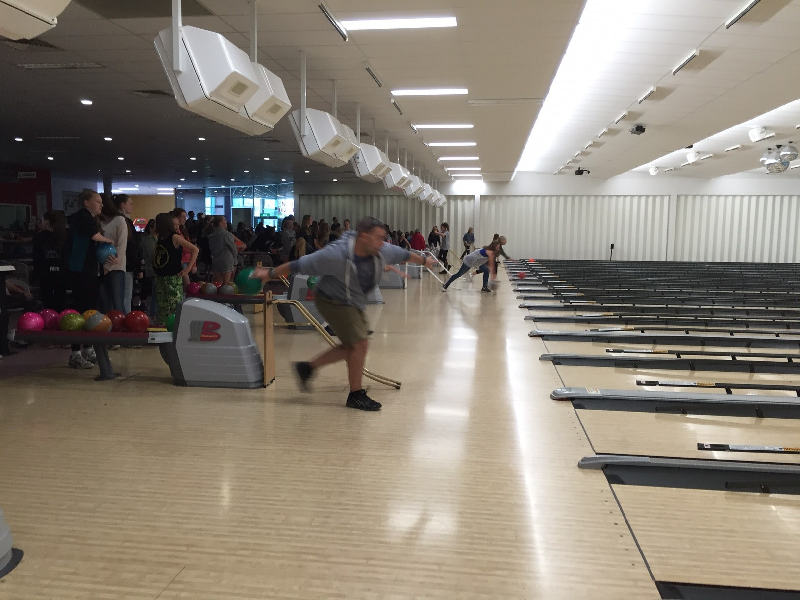 Dale demonstrating a gutter ball!