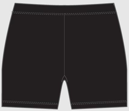 2017 Bike Shorts - Back - $30