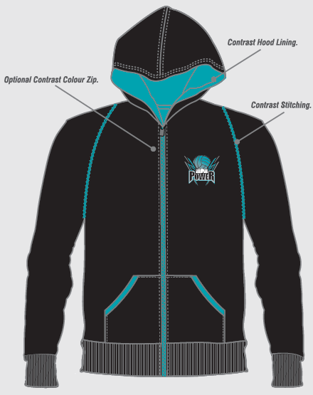 2017 Zip Through Hoodie - Front - $65