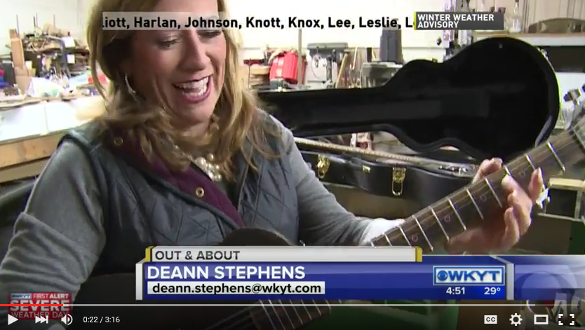 WKYT Out & About Segment: Bourbon Barrel Guitars