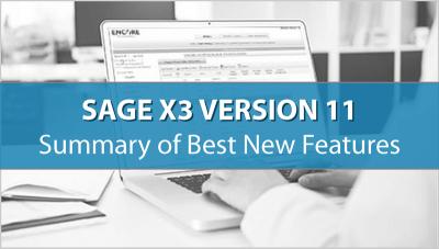 SAGE X3 V11 : Funcionalidades