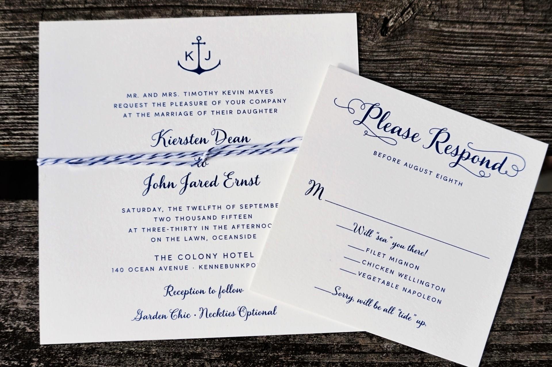 Custom Design by Portsmouth Invitation Company