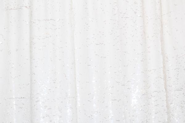 White Sequin Backdrop