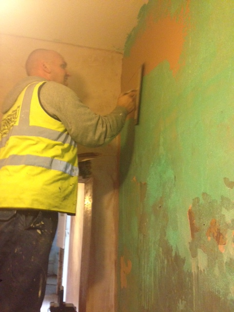 plastering over old plaster