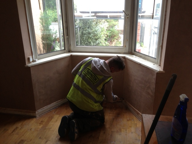 plastering over new damp course