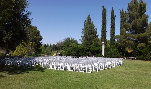 Wedding in meditation garden