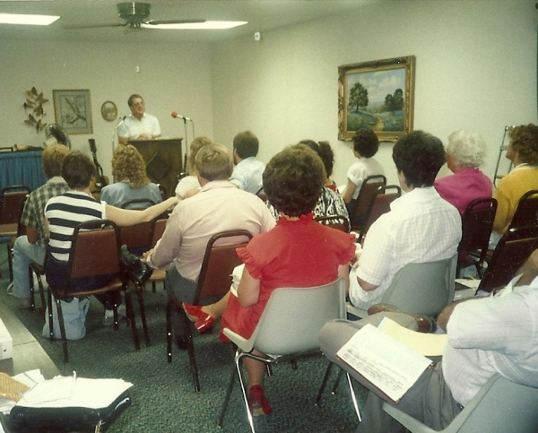 Bible study in meeting room in Bethal house
