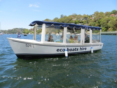 Safe for children and the family Eco Boat Hire Sydney