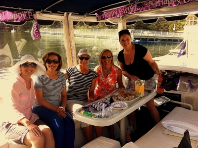 Birthday Party, hen party, stag party, office party on board an Eco Boat Hire Sydney