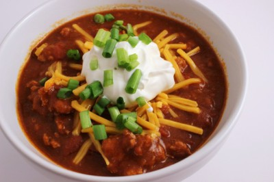 Healthy Crockpot Turkey Chili