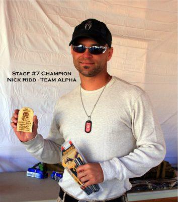 Stage Seven Champion NSZO 2014 - Nick Ridd - Team Alpha