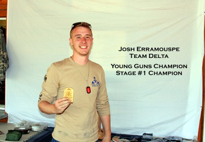 Josh Erramouspe- Young Guns Champion and Stage #1 Champion