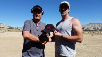 One Shot One Kill Champion - Rodney Downs (Right) with Stage Designer Scott Heino