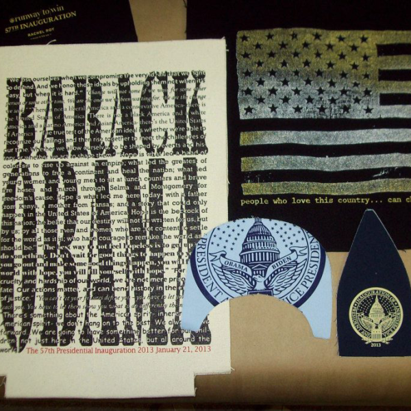 Unassembled 2012 Presidential Inauguration items