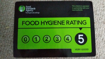 Our Food Hygiene rating