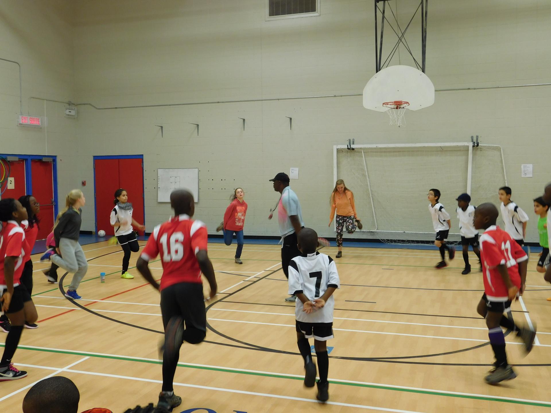 Pratique de soccer: Enfant
