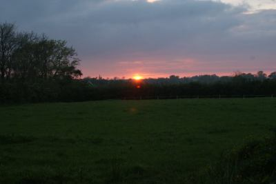 Sunset over Ballymather