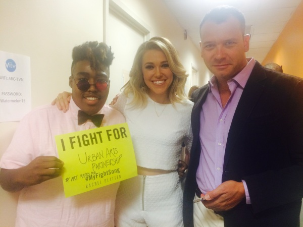 "Billy Dean, Rachel Platten  and Philip Courtney of Urban Arts Partnership ABC's ""The View"""