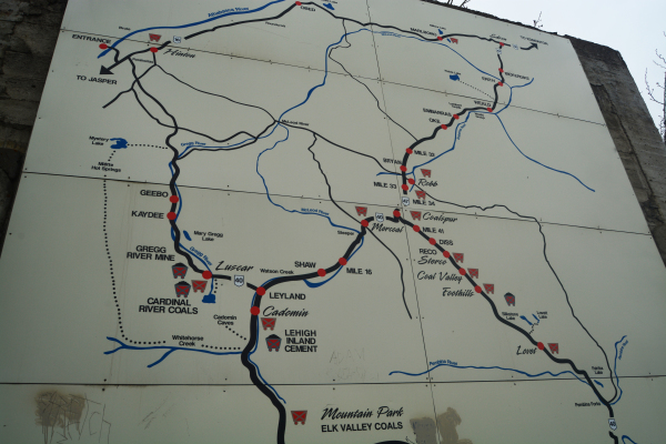 Map of the Coal Branch