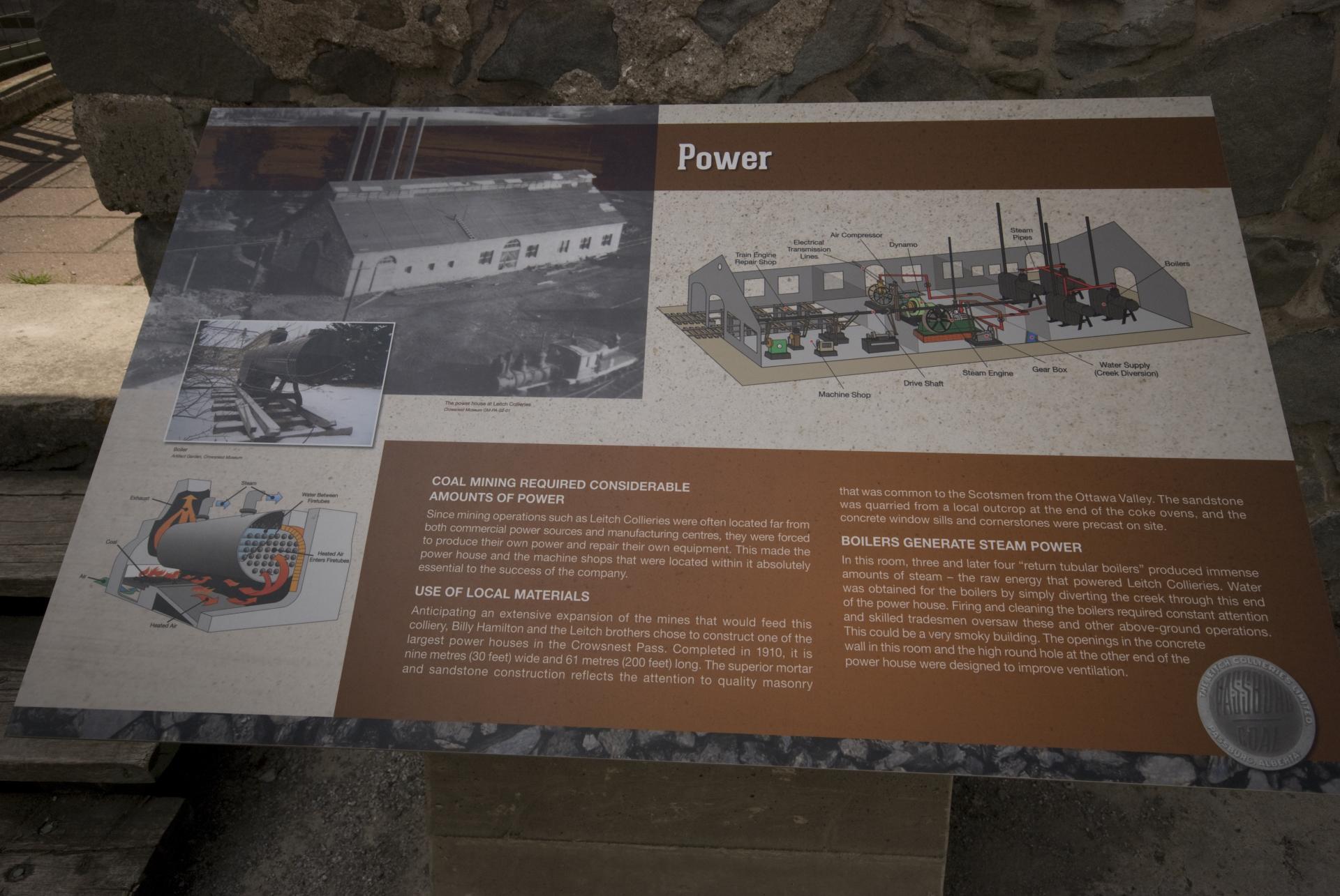 Leitch Collieries Information Plaques