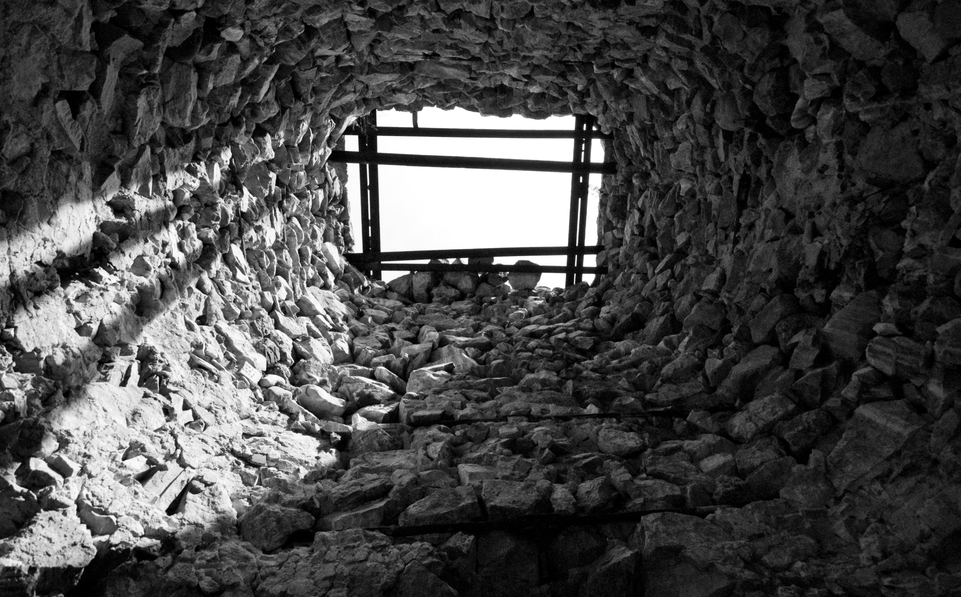 Inside a Lime Kiln...