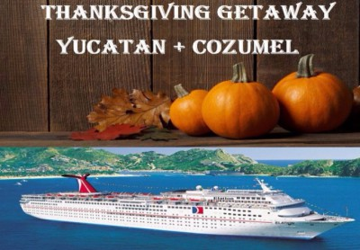 Thanksgiving Get Away! - $449+PP, $200 Dep. 5 days from N.O. or 4 days from Galveston