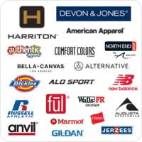comfort colors, american apparel, dickies, augusta, new balance, Russell Athletics, bella canvas