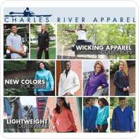 Charles River, Women's New Englander Rain Jacket, Men's Shadow Stripe Polo,Men's Heathered Polo,Men's Axis Soft Shell Jacket