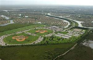 Aerial View Weston, Florida