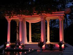 ceresville mansion pergola uplights