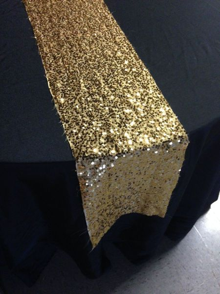 Gold - Large Sequin Table Runner