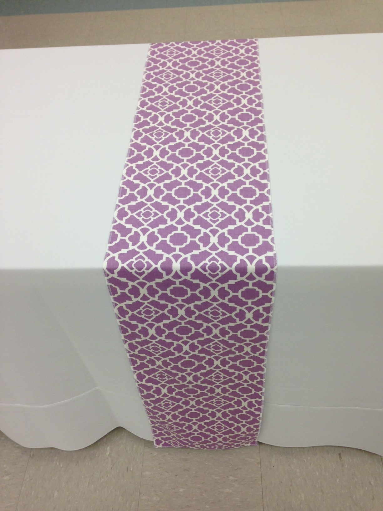 Lavendar Lattice Table Runner