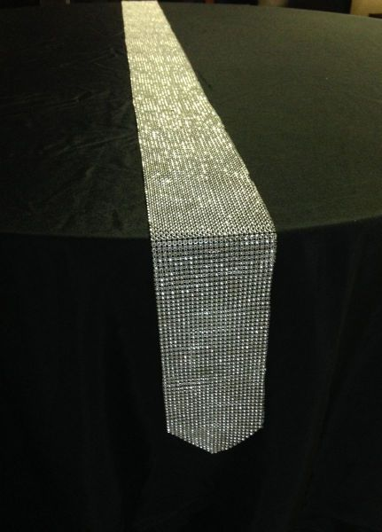"Rhinestone Table Runner - 4.75"" x 90"""