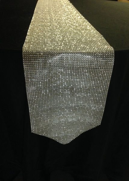 "Rhinestone Table Runner - 10"" x 90"""