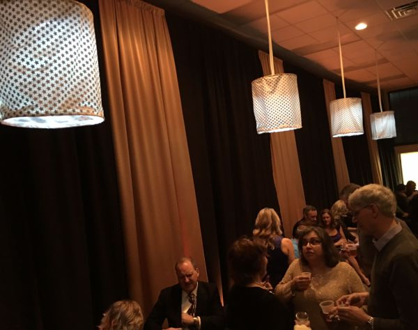 Fabric chandeliers at Frederick Eventplex