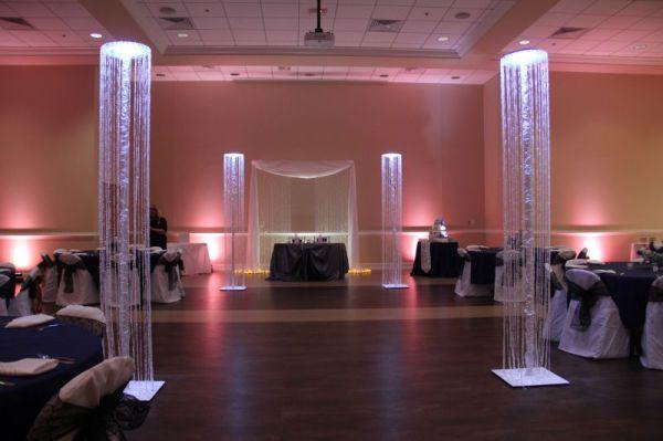 Crystal columns at Legacy Hall