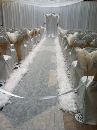 Ethereal wedding ceremony
