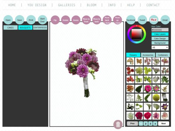 Design your own bouquet