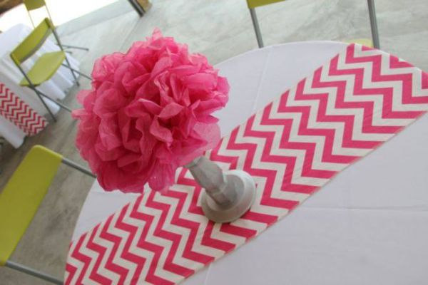 Pink chevron runner