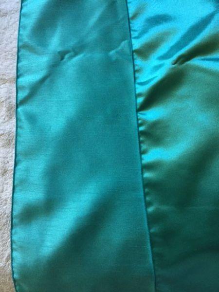 Dark Tiffany Blue Reversible Dupioni/Satin Runner