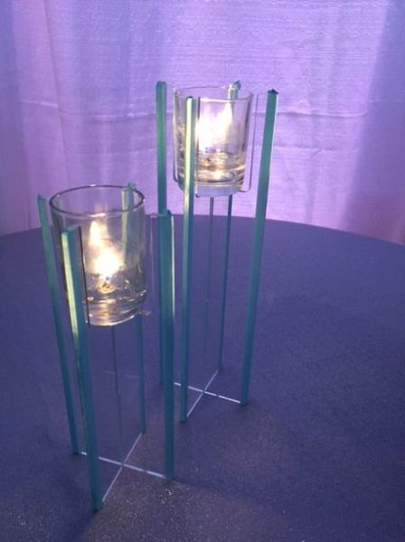 Acrylic Votive Risers with borders