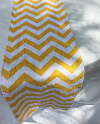 yellow chevron runner