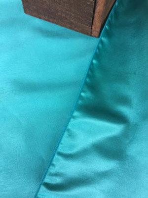 Reversible Dupioni Runner - Dark Tiffany Blue
