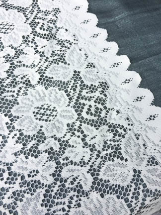 cream lace table runner