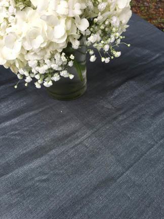 gray metallic weave linen