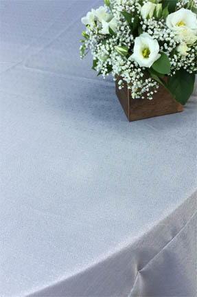 silver metallic weave linen