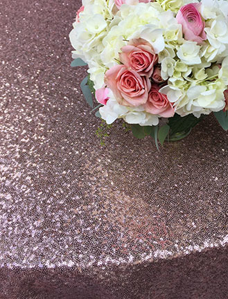 blush sequin linen