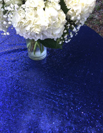 navy blue sequin linen