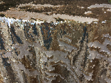 champagne two tone sequin linen