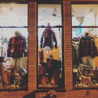 Window Display- Hunting Creek Outfitters